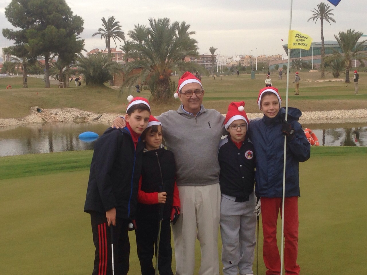There is celebrated the FIRST TOURNAMENT OF NEW PLAYERS in the Escuela de Golf de Elche