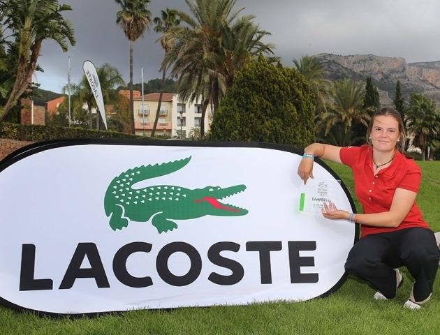 (Castellano) Marta Pérez Sanmartín, campeona Lacoste Promesas 2014