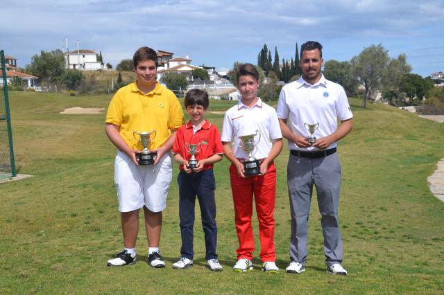 (Castellano) Thomas Artigas Campeón de España de  Pitch & Putt. Juan Manuel Leal Tercero