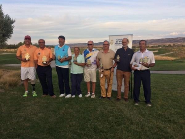 (Castellano) Antonio Llerena campeón del IX Abierto de Madrid de Golf Adaptado 2016, Luis Mateu primer Clasificado Hcp.
