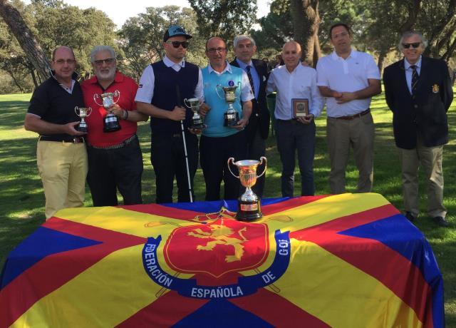 (Castellano) Antonio Llerena gana por tercera vez el Campeonato de España de Golf Adaptado