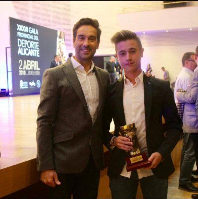 La Gala Provincial del Deporte en Alicante premia, un año más, a Tommy Artigas