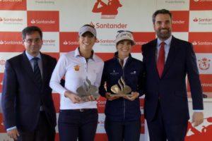 Silvia Bañón y Noemí Jiménez se imponen en el Santander Golf Tour de Sevilla