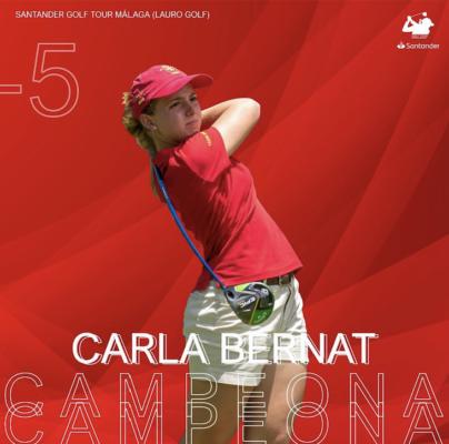 Carla Bernat flamante campeona del Santander Golf Tour Málaga