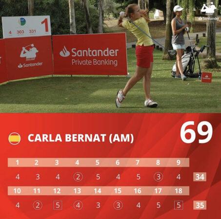 Carla Bernat líder en el Santander Golf Tour de Málaga